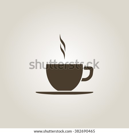 Coffee cup vector flat icon. Tea cup. - stock vector