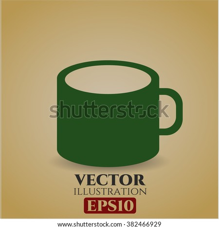 Coffee Cup vector icon or symbol - stock vector