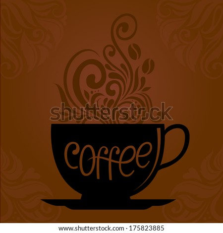 Coffee cup / Vector Lettering - stock vector