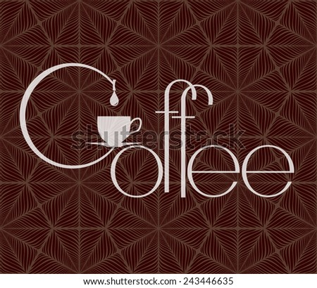 Coffee cup vector logo design template. Cafe shop emblem sign icon. - stock vector