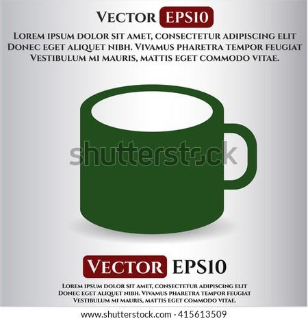 Coffee Cup vector symbol - stock vector