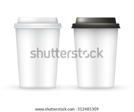 Coffee Cup Vector Template : Vector Illustration - stock vector