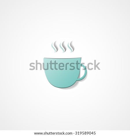Coffee cup web icon on white background
