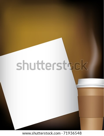 coffee cup with notepad (jpg version is available) - stock vector