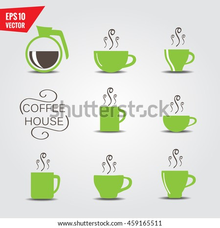 Coffee cups - stock vector