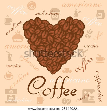 Coffee design elements in retro vintage style.  - stock vector