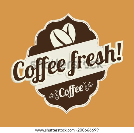 Coffee design over beige background, vector illustration