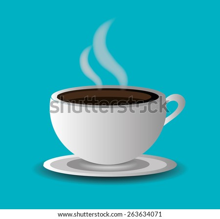 Coffee design over blue background, vector illustration. - stock vector