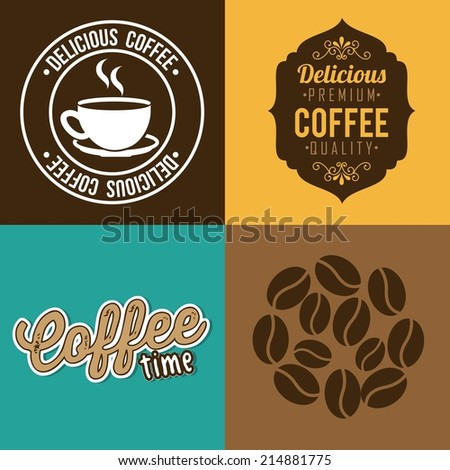 coffee design over colors  background vector illustration