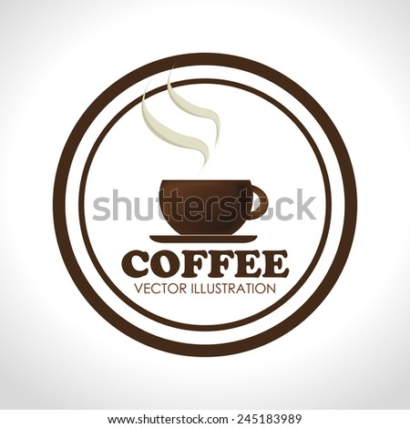 Coffee design over white background, vector illustration,