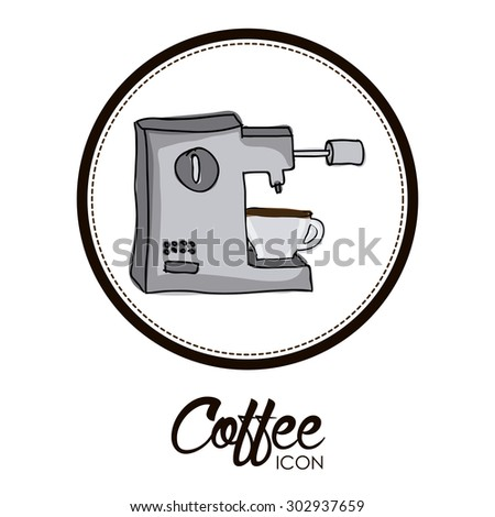 Coffee digital design, vector illustration eps 10