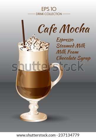 Coffee drink. Cafe Mocha - stock vector