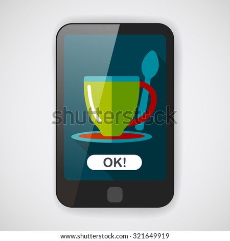 coffee flat icon with long shadow,eps10coffee flat icon with long shadow,eps10 - stock vector