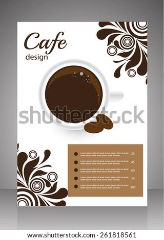 Coffee flyer,menu design template. vector - stock vector