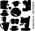 coffee furniture - vector - stock vector