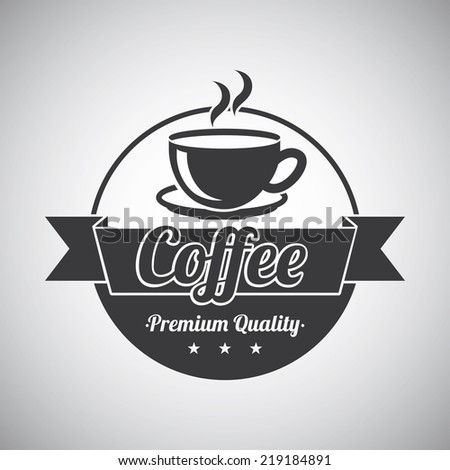 coffee graphic design , vector illustration - stock vector