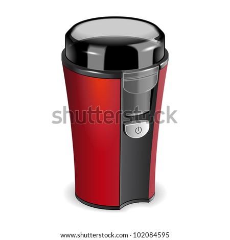 Coffee grinder vector - stock vector