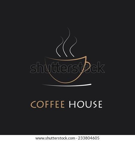 Coffee house illustration - stock vector
