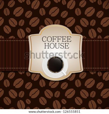 Coffee house menu template vector illustration - stock vector