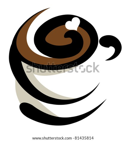 coffee icon (also available jpeg version) - stock vector