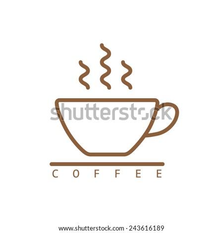 Coffee icon vector - stock vector