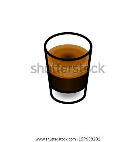 Coffee in a shot glass - short black.
