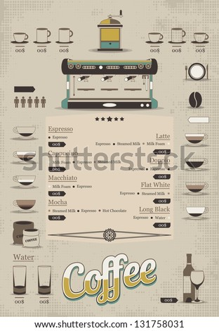 coffee info graphic - stock vector