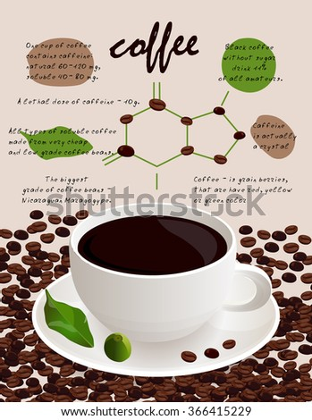 Coffee infographic. vector Illustration. - stock vector