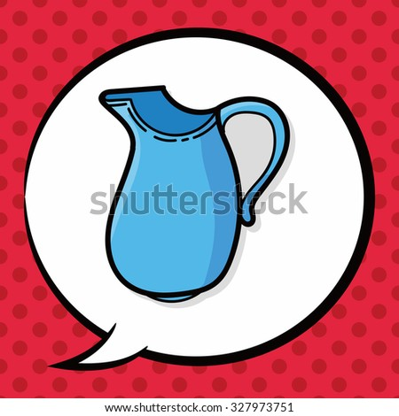 Coffee Kettle Maker Color Doodle Speech Stock Vector 327973751 ...