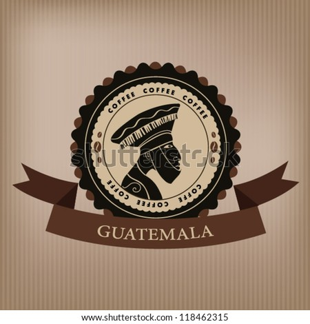 Coffee labels and elements.Guatemala. vector. - stock vector