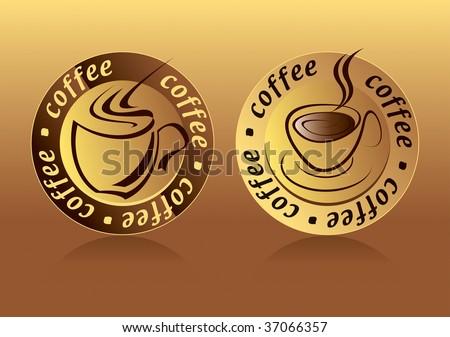 Coffee Logo Drawing - stock vector