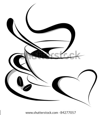 coffee love (also available jpeg version of this image) - stock vector