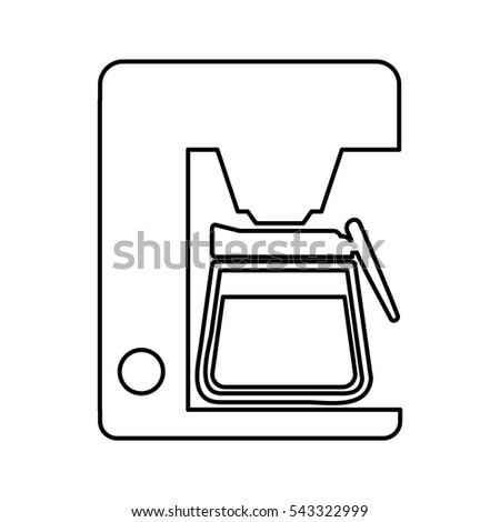 coffee machine isolated icon vector illustration design