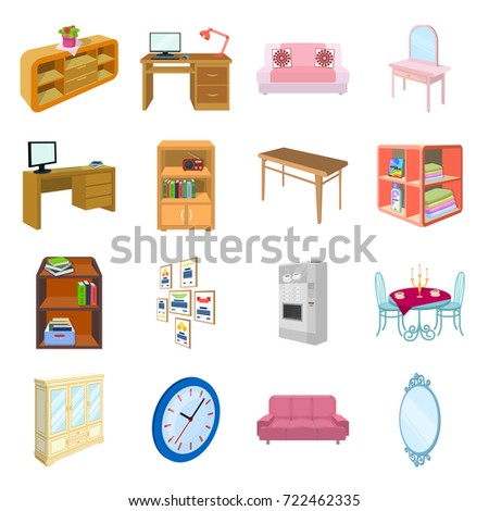 isometric office furniture vector collection. Coffee Maker, Sofa, Mirror, Table Service In The Restaurant And Other Web Icon Isometric Office Furniture Vector Collection P