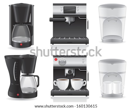 coffee maker vector illustration isolated on white background - stock vector