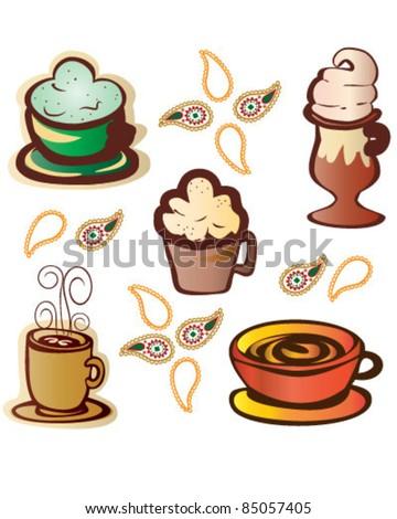 Coffee Malt Shop - stock vector
