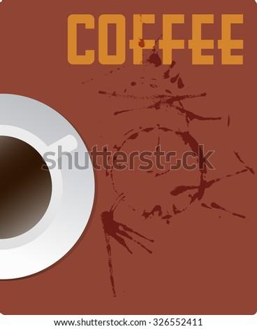 coffee menu design template,free copy space.Vector format, fictional artwork - stock vector