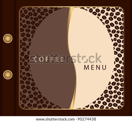 Coffee menu template - stock vector