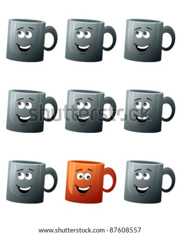 Coffee Mug isolated - stock vector