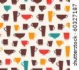 Coffee Mug Pattern - stock