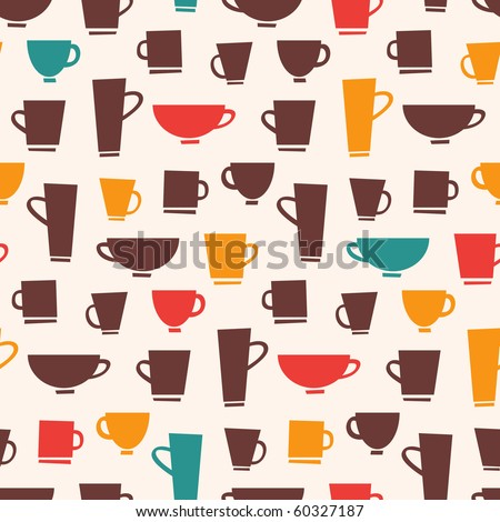 Coffee Mug Pattern - stock vector