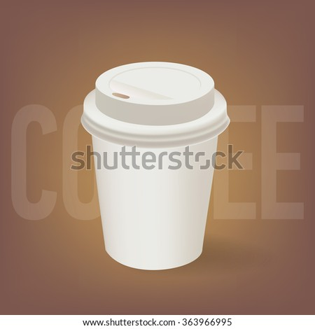 Coffee Paper Cup - stock vector