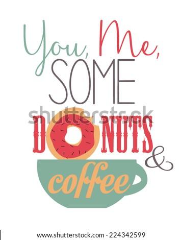 coffee quote - stock vector