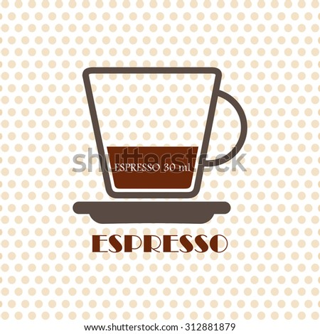 Coffee recipe Espresso - stock vector