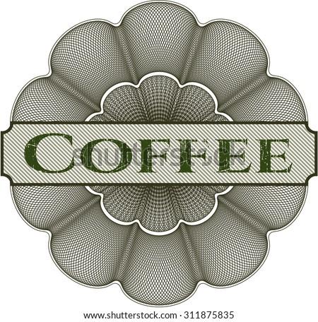 Coffee rosette - stock vector