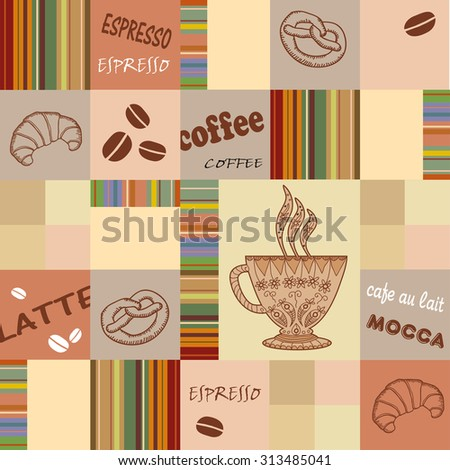 coffee. seamless - stock vector