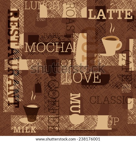 Coffee Seamless Background - stock vector