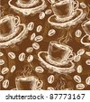 Coffee seamless pattern - stock vector