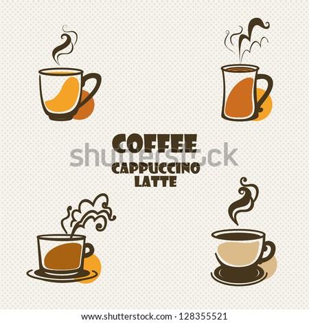 coffee set. - stock vector