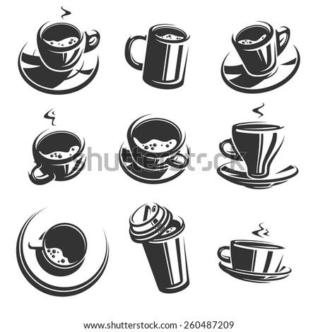 Coffee set. Vector - stock vector